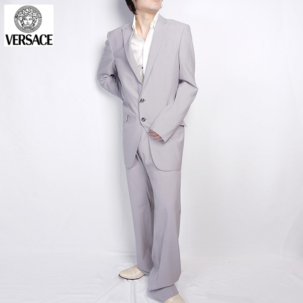 ヴェルサーチ Versace スーツ セットアップ 20015 GV ライトパープル【送料無料】【smtb-TK】