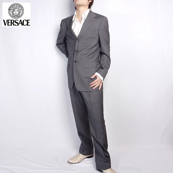 ヴェルサーチ Versace スーツ セットアップ 28ZDVG A50482 グレー【送料無料】【smtb-TK】