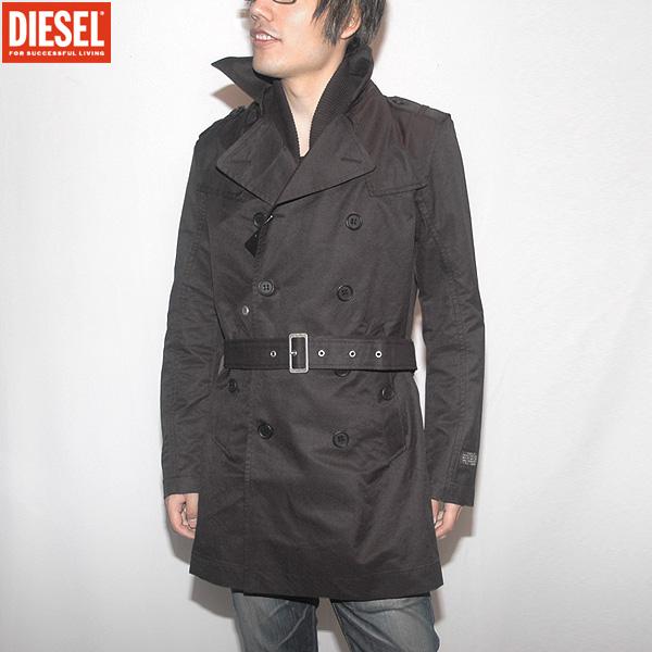 ディーゼル DIESEL メンズ ショート トレンチコート 00CNER -00EVJ-900 ブラック 黒 (R48900)【送料無料】【smtb-TK】