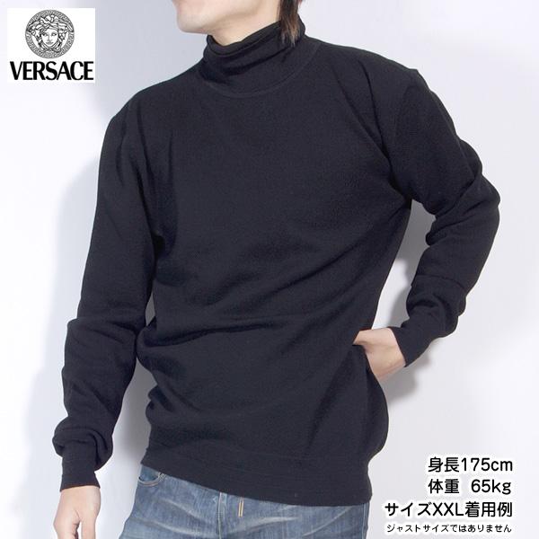 【XXL】ヴェルサーチジーンズ Versace JEANS メンズ カットソー 長袖 QV2853 81512 900 ブラック 黒 (R46457)【送料無料】【smtb-TK】