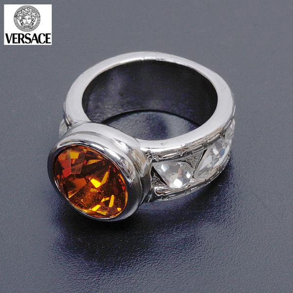 ヴェルサーチ Versace ユニセックス 指輪 AN26SX 3506Aシルバー/オレンジ (R18742)【送料無料】【smtb-TK】
