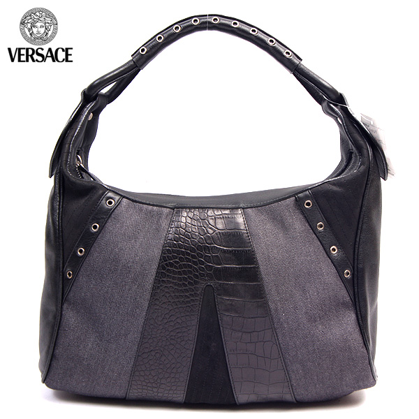 ジャンニヴェルサーチ Versace グッズ ハンドバッグ 鞄かばん ベルサーチBF8127 PTC2 ブラック/グレー (R115533)【送料無料】【smtb-TK】
