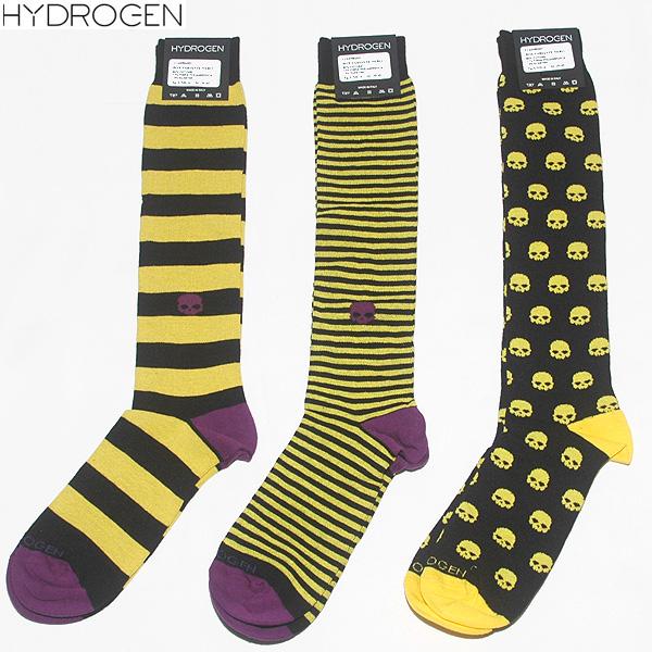 ハイドロゲン HYDROGEN 【3足セット】 ユニセックス ハイソックス 靴下 11A1096003 BOX VARIANTE イエロー 黄