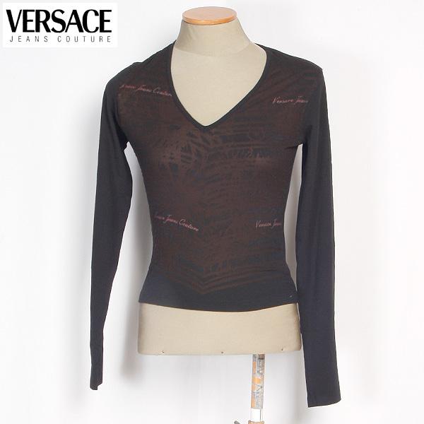 ヴェルサーチジーンズ Versace JEANS レディース カットソー 長袖 GV6706 82024 900 ブラック 黒 (R21031)【送料無料】【smtb-TK】