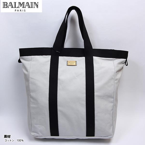 バルマン BALMAIN グッズ トートバッグ 鞄 カバン かばん バルマンロゴプレート付き ライトグレー W60 JM06 2320 BORSA ライトグレー【送料無料】【smtb-TK】