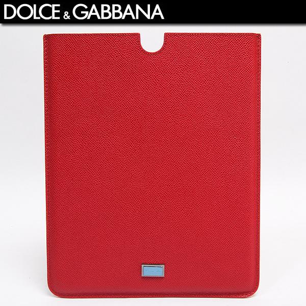 ドルチェ&ガッバーナ DOLCE&GABBANA イタリア製 iPadケース 型押しレザー BP1605 A3G15 ROSSO レッド赤 (R22800)【送料無料】【smtb-TK】