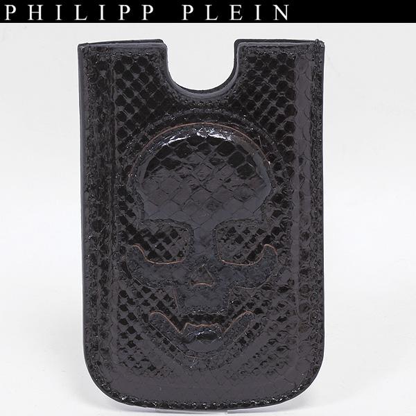 フィリッププレイン PHILIPP PLEIN パイソン 蛇革 スカル アイフォンケース PPA 12L02004p ブラック 黒 /シルバー【2】 【送料無料】【smtb-TK】