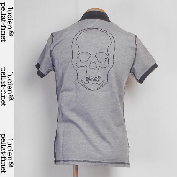 ルシアンペラフィネ lucien pellat-finet レディース バックスカル ポロシャツ グレー/ネイビー EVF969 12S (R79800)【送料無料】【smtb-TK】