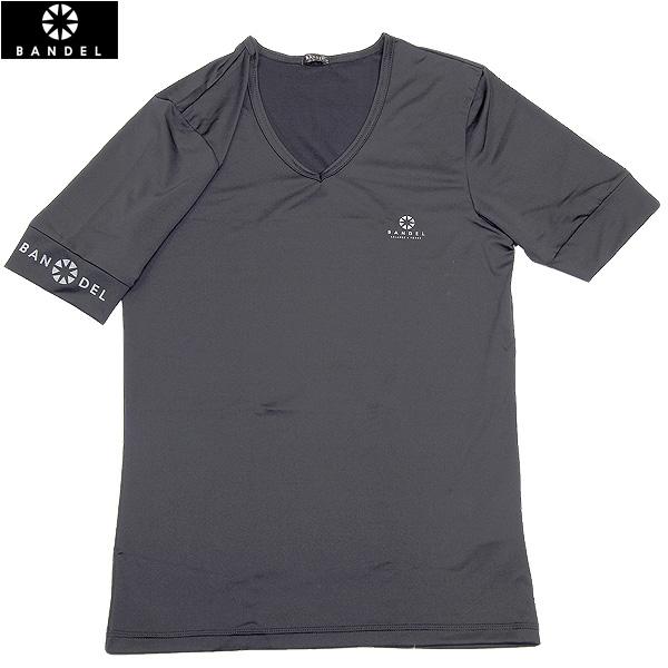 バンデル BANDEL 袖口 チェスト部分ブランドロゴ入りVネックTシャツ メンズ トップス Tシャツ ブラック R9240 アンダーウェア ブランド激安セール会場 吸汗 速乾 120517-57 安心の定価販売