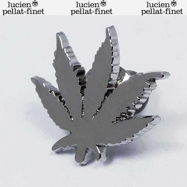 ルシアンペラフィネ lucien pellat-finet ラベルピン ピンバッジ リーフ ヘンプ AB56 LEAF1 STEEL シルバー (R10500)