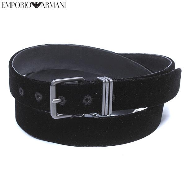 エンポリオアルマーニ EMPORIO-ARMANI メンズ レザーベルト ブラック YEMG42 YH342 80001 12A【送料無料】【smtb-TK】