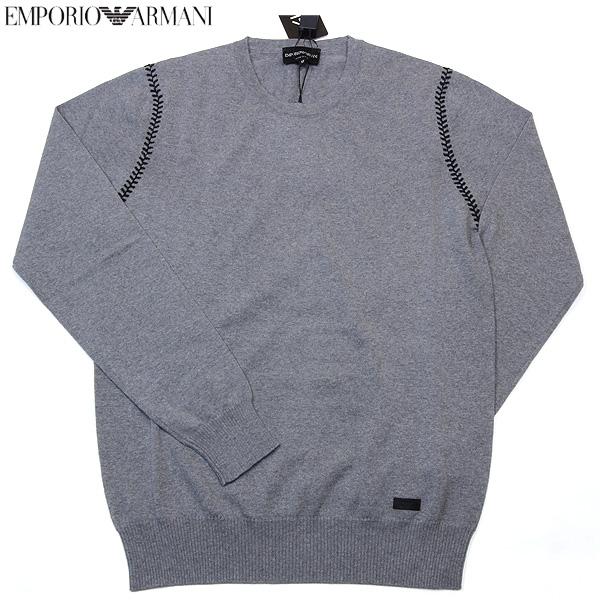 エンポリオアルマーニ EMPORIO-ARMANI メンズ クルーネック ウールカットソー セーター グレー K1M41M K123M 12A (R37981) 【送料無料】【smtb-TK】