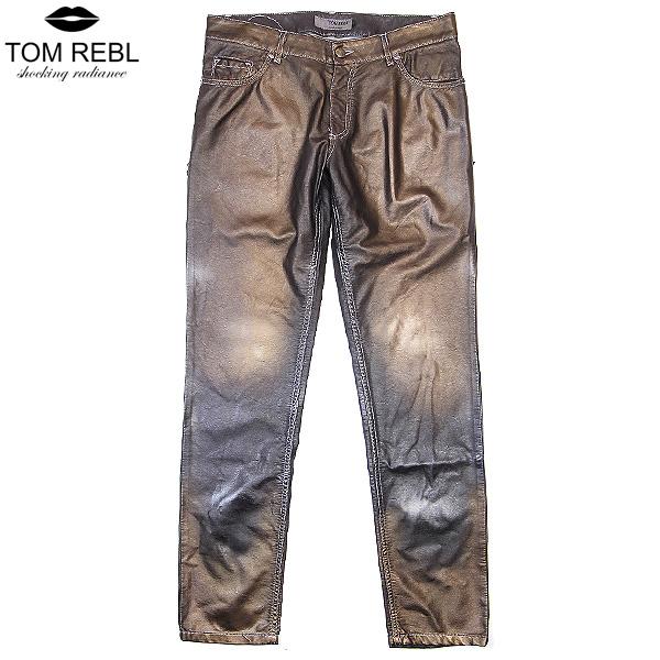 トム レベル TOM REBL メンズ エコレザー グラデーション デザイン パンツ TU0151 650D0R ブラウン【送料無料】【smtb-TK】