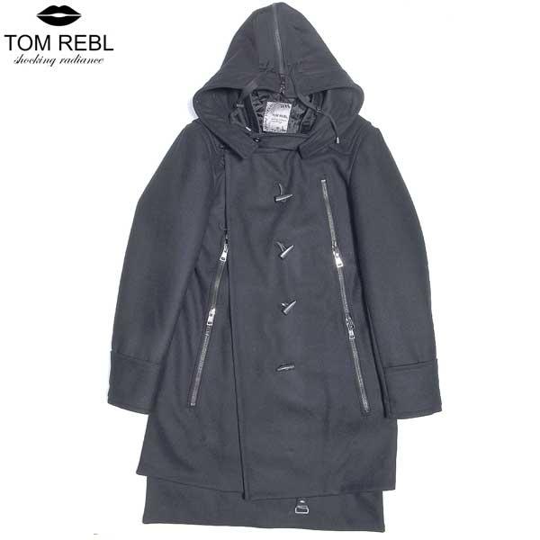トム レベル TOM REBL メンズ デザイナーズ ダッフルコート TU0733 8783 90 ブラック 黒 (R178038)【送料無料】【smtb-TK】