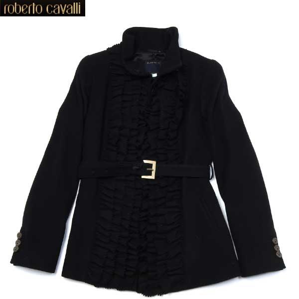 クラスロベルトカバリ Class Roberto Cavalli レディース ウール ジャケット ブラック CD 021 801 12A (R175813)【送料無料】【smtb-TK】