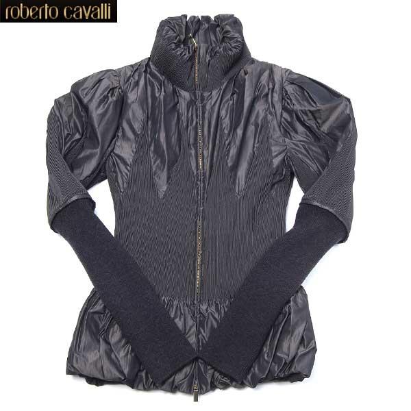 ロベルトカバリ Roberto Cavalli レディース ジップアップ ジャケット ブラック CD 081 881 12A (R100800)【送料無料】【smtb-TK】