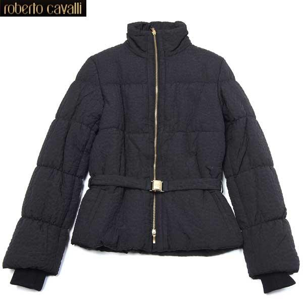 ロベルトカバリ Roberto Cavalli レディース 中綿ジャケット ブラック CD 201 801 12A (R126000)【送料無料】【smtb-TK】