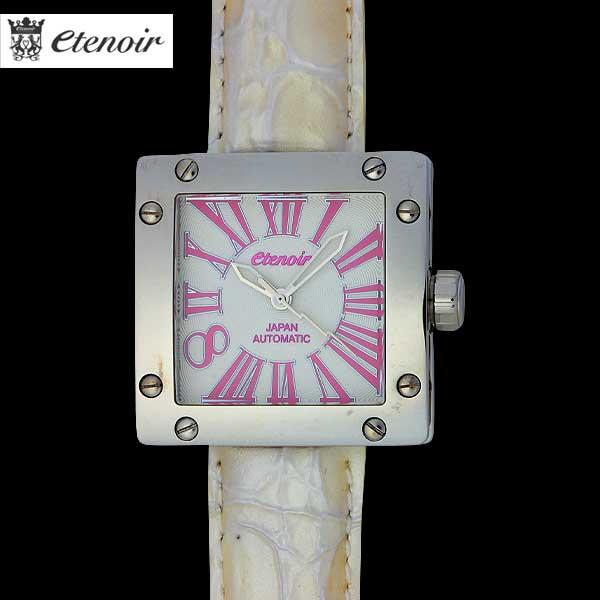 エテノワール ETENOIR ユニセックス 腕時計 GRANDSQUARE 40mm AUTOMATIC PINKINDEX WHITE ホワイト 12A【送料無料】【smtb-TK】