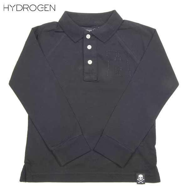 ハイドロゲン HYDROGEN キッズ Hロゴ 長袖 ポロシャツ 156034 007 DB14A【送料無料】【smtb-TK】
