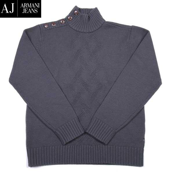 【送料無料】 アルマーニジーンズ(ARMANI-JEANS) メンズウール ハイネックセーター カットソー J6W11 TR R2 【smtb-TK】 8A