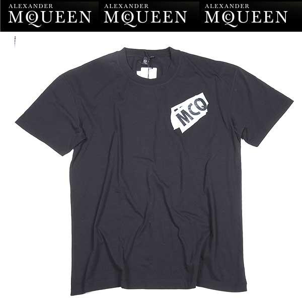 アレキサンダーマックイーン Alexander McQUEEN メンズ 半袖 Tシャツ 291571 RER27 1000 15S【送料無料】【smtb-TK】