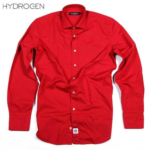 ハイドロゲン HYDROGEN メンズ ポプリン シャツ ドレスシャツ 160428 876 15S【送料無料】【smtb-TK】