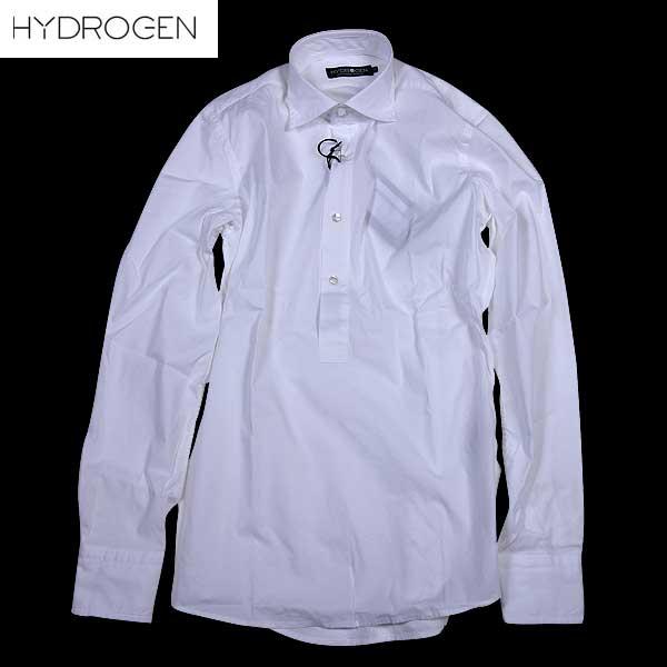 ハイドロゲン HYDROGEN メンズ ストレッチ コットン シャツ ドレスシャツ 160421 877 15S【送料無料】【smtb-TK】