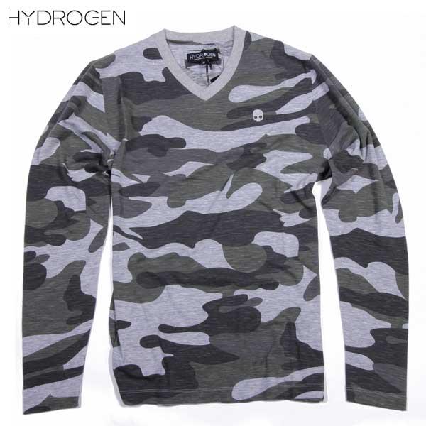 ハイドロゲン HYDROGEN メンズ Vネック カットソー ロング Tシャツ 160012 445 15S【送料無料】【smtb-TK】