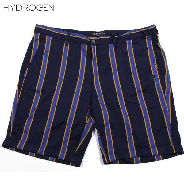 【送料無料】 ハイドロゲン(HYDROGEN) メンズ ストライプ コットン ハーフパンツ 160519 158 【smtb-tk】 15S