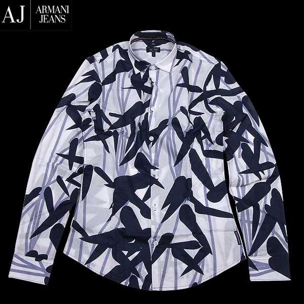 アルマーニジーンズ ARMANI-JEANS メンズ コットン カジュアルシャツ A6C52 BK KC 15S【送料無料】【smtb-TK】