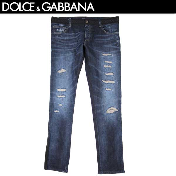 【送料無料】 ドルチェ&ガッバーナ(DOLCE&GABBANA) メンズ クラッシュ デニム ジーンズ G6AOLD G8Q54 S9001 【smtb-tk】 15S