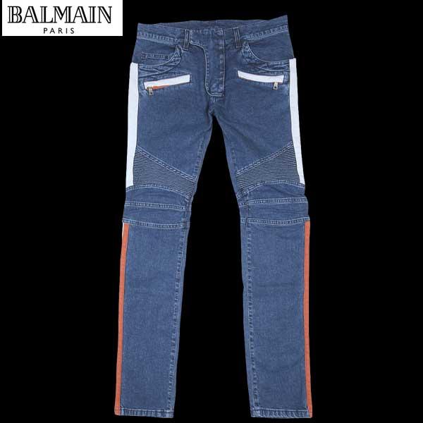 【送料無料】 バルマン(BALMAIN) メンズ ライダース デニム ジーンズ S5HT551 C831T 155 【smtb-tk】 15S
