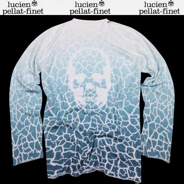 ルシアンペラフィネ lucien pellat-finet メンズ スカル 背中スカル バックプリント 長袖ニット ロング 長袖 Tシャツ AT1964H KITE 15S (R105840)【送料無料】【smtb-TK】