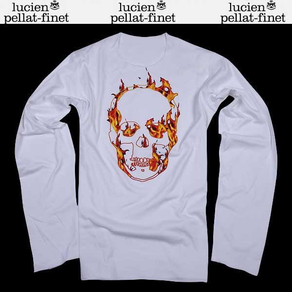 ルシアン ペラフィネ lucien pellat-finet メンズ スカル ロング 長袖 Tシャツ EVH1566 WHITE/FIRE PRINT 15S (R104760)【送料無料】【smtb-TK】