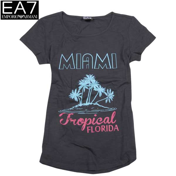 エンポリオアルマーニ EMPORIO-ARMANI レディース 半袖 Tシャツ EA7 283784 5P207 00020 BLACK 15S (R11000)