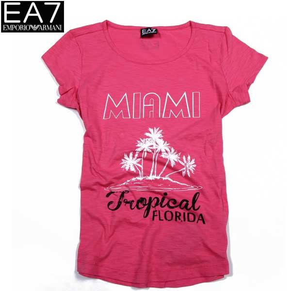 エンポリオアルマーニ EMPORIO-ARMANI EA7レディース 半袖 Tシャツ マイアミ 283784 5P207 00873 BLUSH PI 15S (R11000)