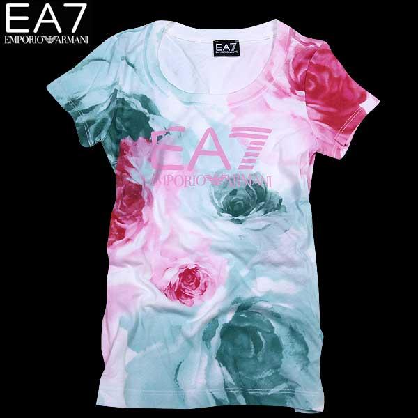 エンポリオアルマーニ EMPORIO-ARMANI EA7レディース 半袖 Tシャツ フラワー 283795 5P256 00010 WHITE 15S (R14000) 【送料無料】【smtb-TK】