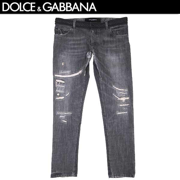 【送料無料】 ドルチェ&ガッバーナ(DOLCE&GABBANA) メンズ クラッシュデニム ジーンズ G6AOLD G8Q55 S9001 【smtb-TK】 15S