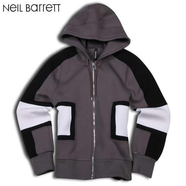 【送料無料】 ニールバレット(Neil Barrett) メンズ ジップアップパーカー PBJS14V C3555 1365 【smtb-TK】 15A