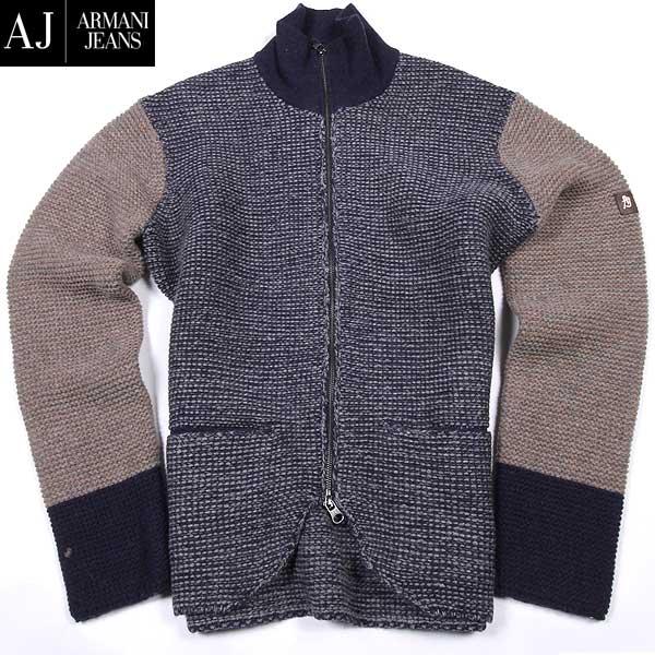アルマーニジーンズ ARMANI-JEANS メンズ ウール ジップアップセーター B6W05 UH KV 15A【送料無料】【smtb-TK】
