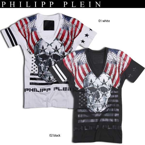 フィリッププレイン PHILIPP PLEIN メンズ スカル 半袖 Tシャツ