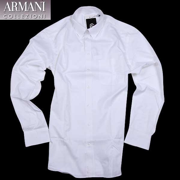 アルマーニ コレッツォーニ ARMANI COLLEZIONI メンズ ドレスシャツ ワイシャツ SCCM1L SCC03 100 15A【送料無料】【smtb-TK】