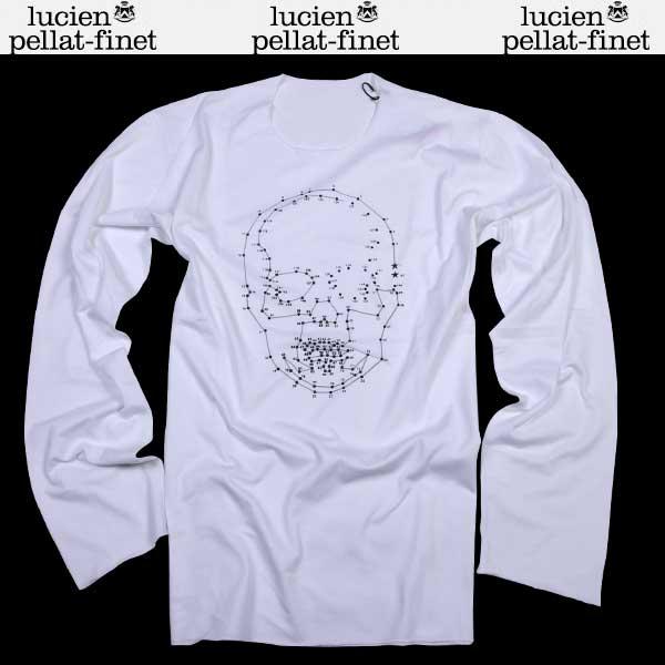 ルシアン ペラフィネ lucien pellat-finet メンズ ドットスカル ロング Tシャツ 長袖 EVH1695 WHITE/ALWAYS AS SAMPLE 15A【送料無料】【smtb-TK】