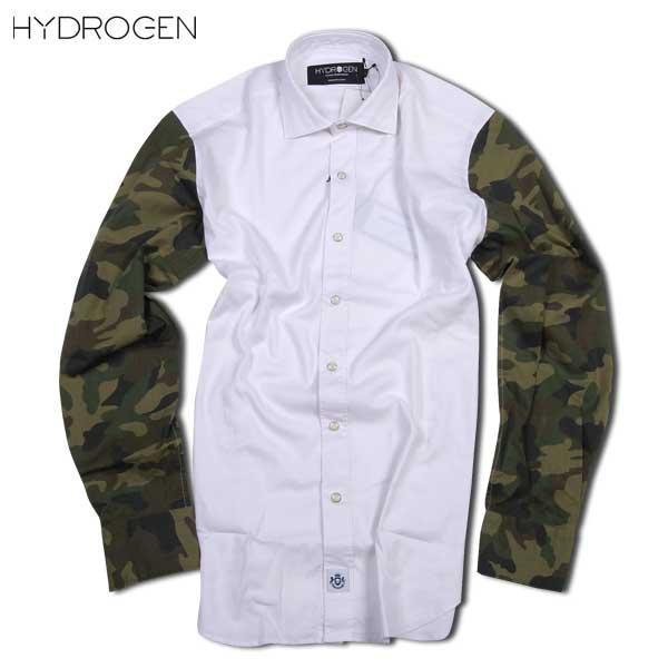 【送料無料】 ハイドロゲン(HYDROGEN) メンズ オックスフォード カモフラージュ シャツ 170423 876 15A