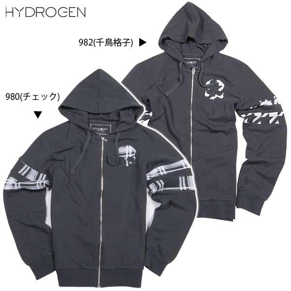 【送料無料】 ハイドロゲン(HYDROGEN) メンズ OLD SCHOOL ジップアップパーカー 170605 980/982 【smtb-TK】 15A