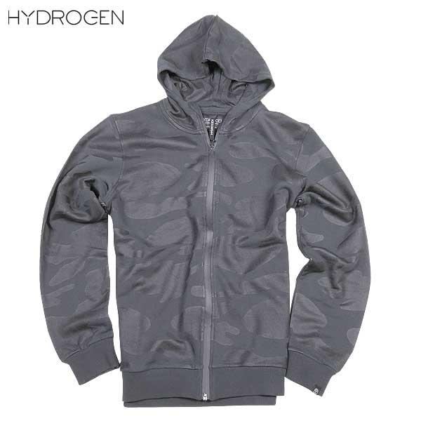 【送料無料】 ハイドロゲン(HYDROGEN) メンズ BLACK CAMO ジップアップパーカー 170611 007 15A