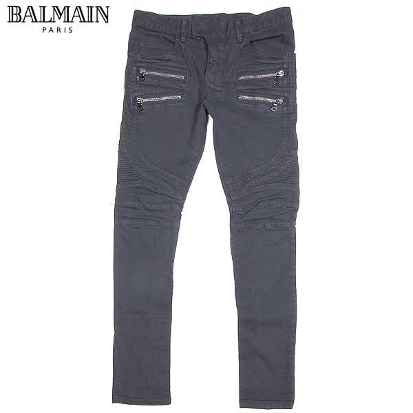 バルマン BALMAIN メンズ バイカーズ デニム ジーンズ ブラック W5HT502 C480 159 15A【送料無料】【smtb-TK】
