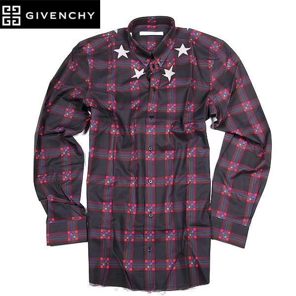 【送料無料】 ジバンシー(GIVENCHY) メンズ スターパッチ デザインシャツ 15W6425 846 009 15A