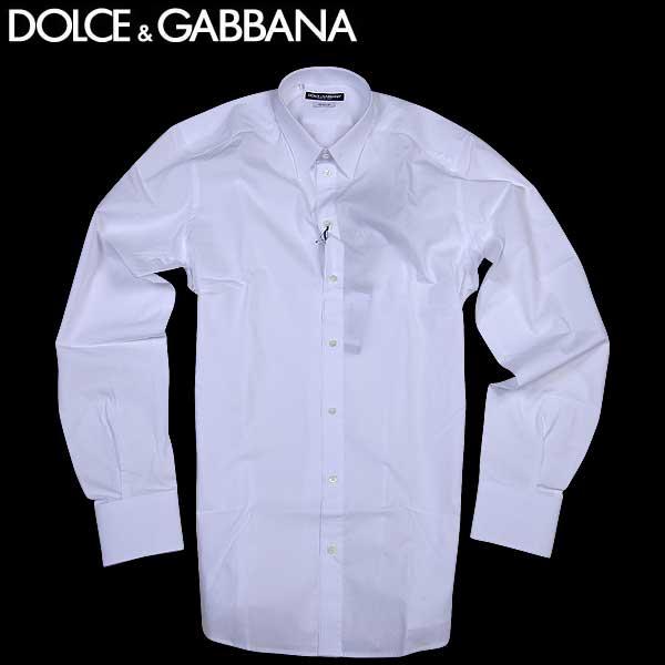 【送料無料】 ドルチェ&ガッバーナ(DOLCE&GABBANA) コットン ドレスシャツ ワイシャツ G5DE2T FU5GK W0800 【SALE1602】 61S