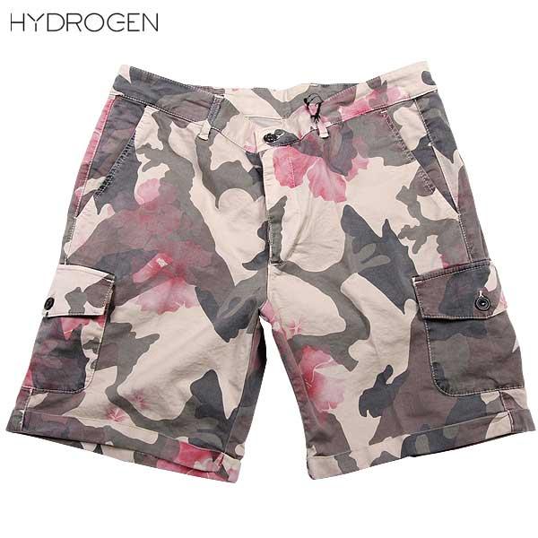 【送料無料】 ハイドロゲン(HYDROGEN) メンズ LUXURY SPORTSWEAR カーゴショーツ ハーフパンツ 180510 060 【SALE1603】DB61S